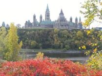 Parliament and fall colours