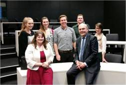 Chatting with Minister Steven Joyce Oct 2014 CROPPED